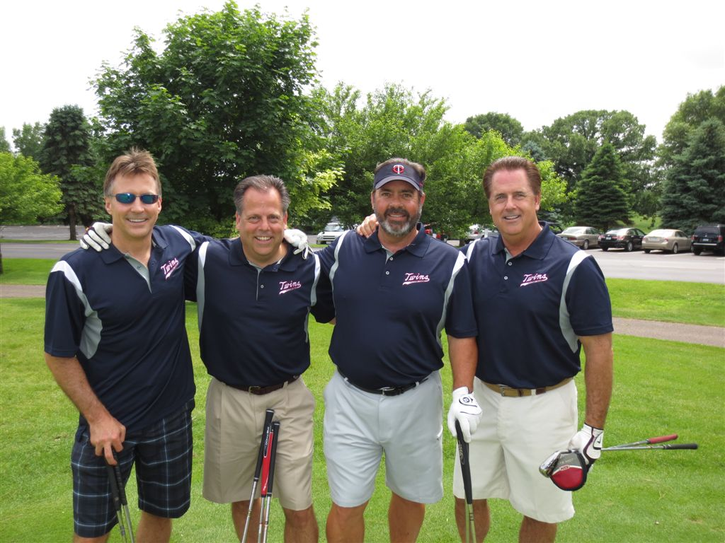 Dave, Randy, Bruce, and Stan representing KDV Investments St. Cloud, MN.  Also representing the Minnesota Twins Fantasy Camp.