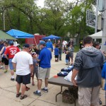 activity prior to the game at the Chuck Fuller Field at Dartt's Park in Owatonna, MN